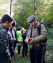 Осенью в Сибирском ботаническом саду прошло занятие «Обитатели парка»