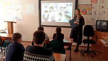 Первые выездные занятия в коррекционных школах в 2021 году.